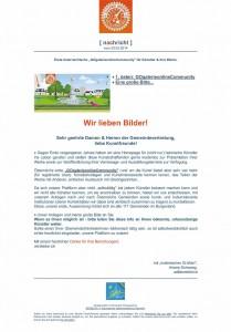 mailing an die Gemeinden im Burgenland - 20.02.2014